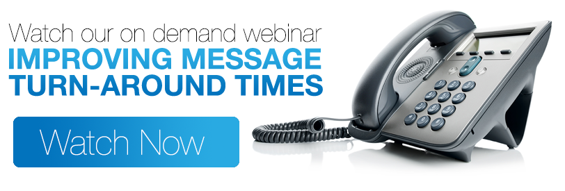 Webinar: Improving Message Turn-Around Times