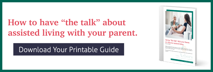 Download your printable copy of Having The Talk with Your Senior Parent It's Time for Assisted Living