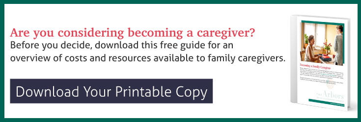 download your printable copy of Becoming a Family Caregiver