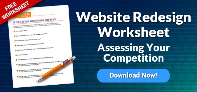 Assess you competition before a website redesign