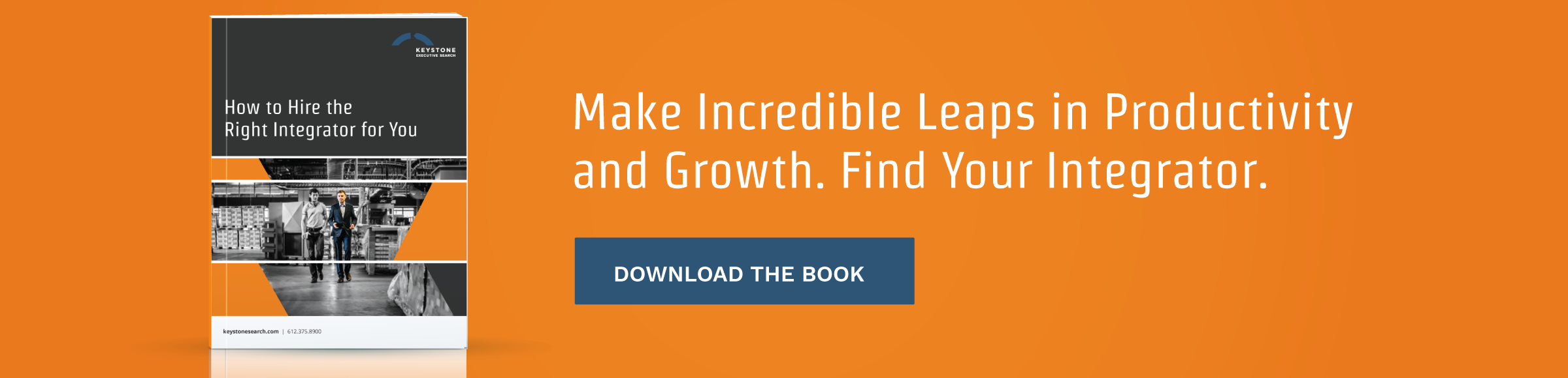 Make incredible leaps in productivity and growth. Find your integrator.
