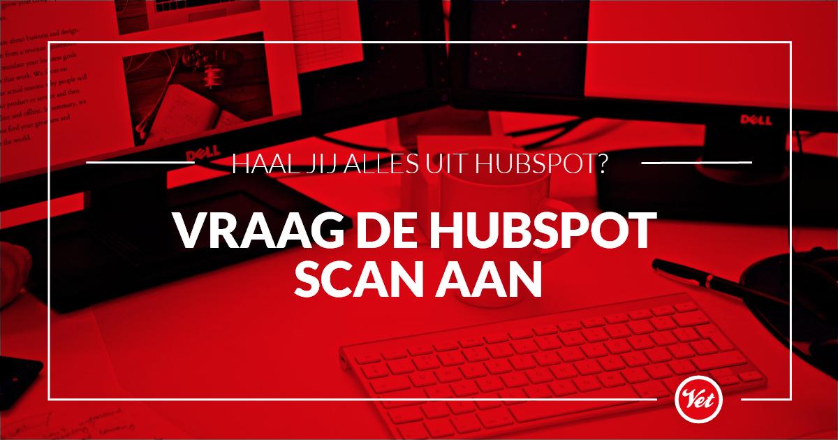 Vraag de HubSpot scan aan