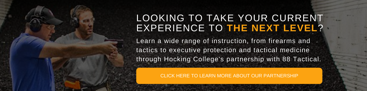 Man in firing range | Hocking College Launches Partnership for Tactical Operations Academy