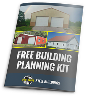 Learn how to start planning for your new custom steel building kit with the free building planning kit from Worldwide Steel Buildings.