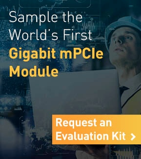 Sample the World's First Gigabit mPCIe Module