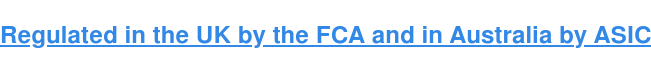 We are UK FCA regulated