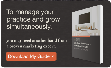 Download the eBook: Why Law Firms Need a Marketing Manager