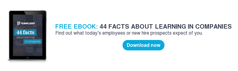 FREE EBOOK: 44 FACTS ABOUT LEARNING IN COMPANIES Find out what today's employees or new hire prospects expect of you.     Download now