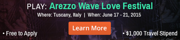 Play Arezzo Wave Love Festival in Italy