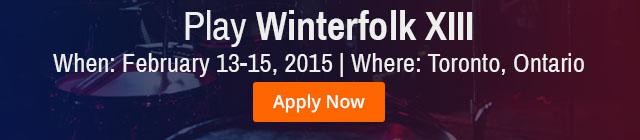 Apply to Winterfolk Festival