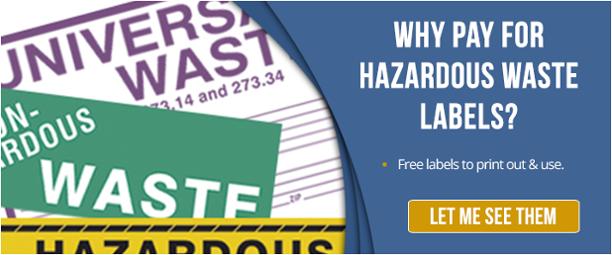 Free Hazardous Waste Labels