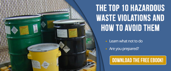 Top 10 hazardous wast violations and how to avoid them