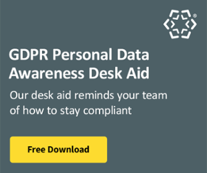 GDPR Personal Data Desk Aid
