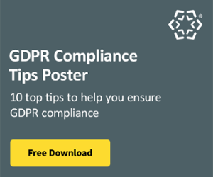 GDPR Compliance Tips Poster Blog