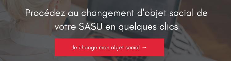 changer d'objet social dans une SASU