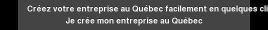 Créez votre entreprise au Québec facilement en quelques clics Je crée mon  entreprise au Québec