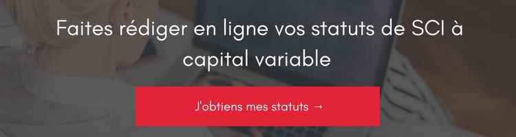 création SCI à capital variable
