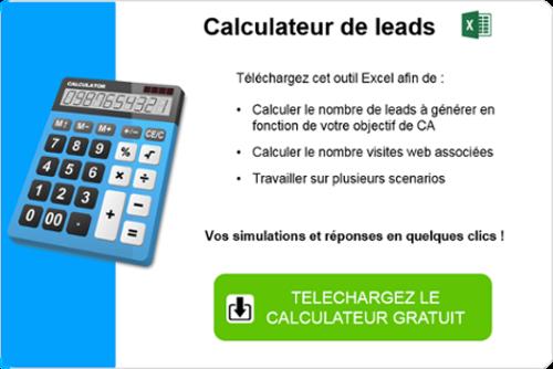 calculateur excel de generation de leads web