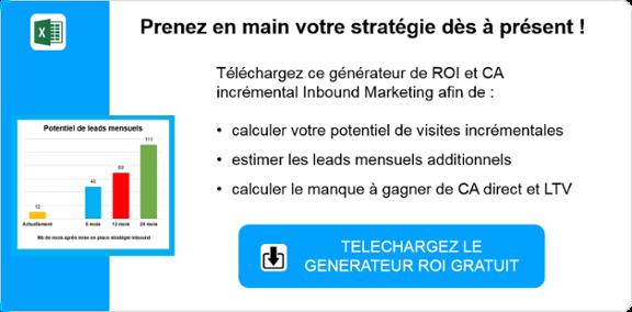 generateur de ROI et CA inbound marketing leads b2b