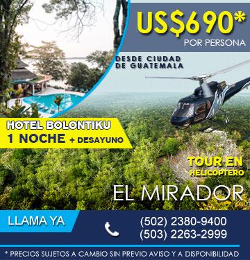 El mirador helicoptero guatemala