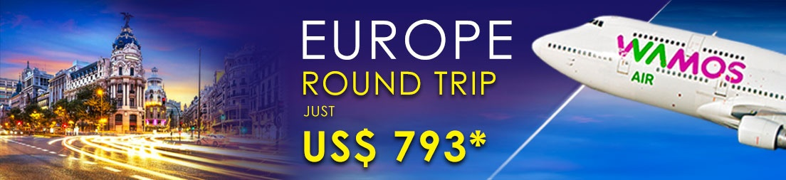 Europe Round Trip With TAG Airlines