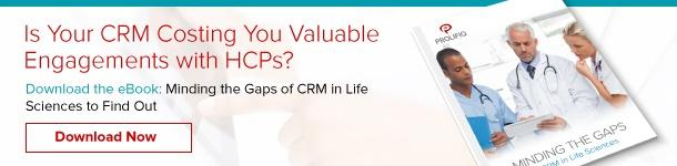 Minding the Gaps of CRM in Life Sciences