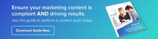 Med device marketers content audit template