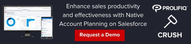 Request a Demo of Prolifiq CRUSH - Account Planning Done Right
