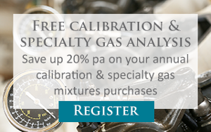 Free calibration & specialty gas analysis