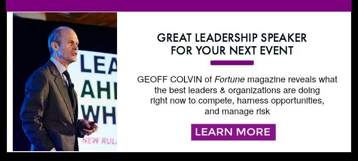 Geoff Colvin Leadership Speaker
