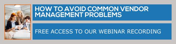 Know how to overcome vendor management problems - webinar