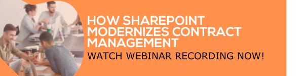 Free webinar - How SharePoint Modernizes Contract Management