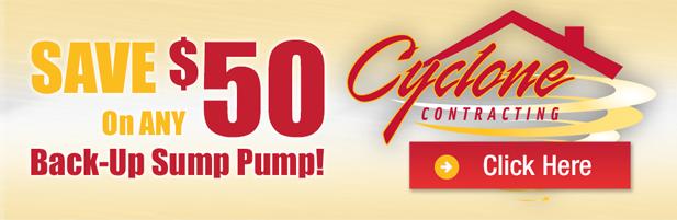 $50 off sump pump