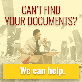 Can't find your documents? We can help.