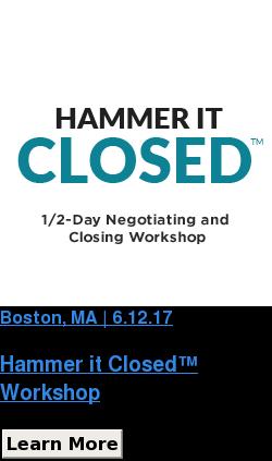 Boston, MA | 6.12.17   Hammer it Closed™ Workshop Learn More SaveSaveSaveSave