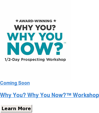 Coming Soon   Why You? Why You Now? Workshop Learn More Save