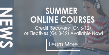 Summer Online Courses: Credit Recovery or Electives Available Now!