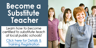 Become a Substitute Teacher - Learn how here!