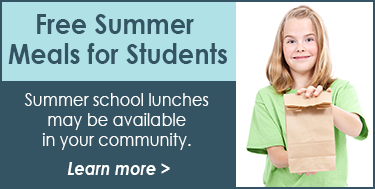 Free Summer Meals for Students - Details here!