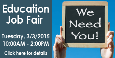 Education Job Fair - Click here for details!