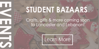 Holiday bazaars coming soon to Lancaster and Lebanon!