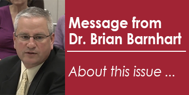 About This Issue - A Message from Dr. Brian Barnhart