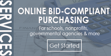Online Bid-Compliant Purchasing for schools, nonprofits and more