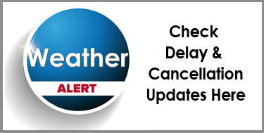 Check the latest updates on weather delays and cancellations here!