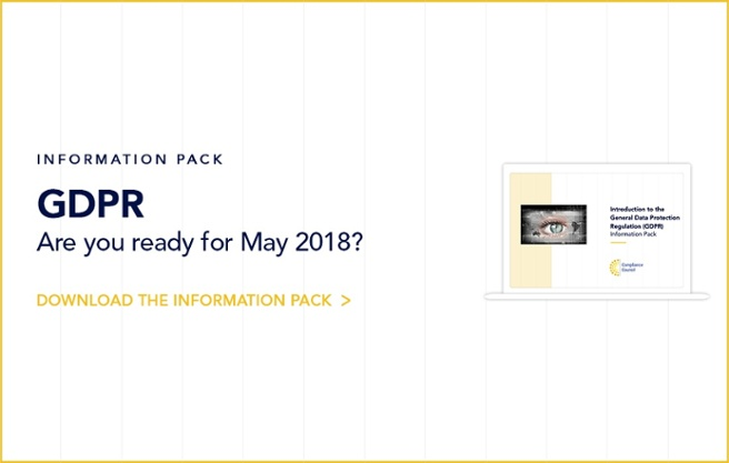 GDPR Information Pack - May 2018