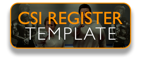 CSI Register Template