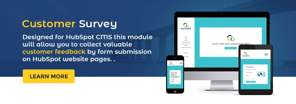 HubSpot Survey Module for CMS Website and Landing Pages