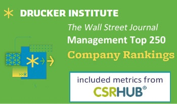 The Wall Street Journal Management Top 250 includes CSRHub metrics