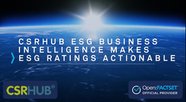 CSRHub ESG Business Intelligence Data on Open:FactSet Marketplace