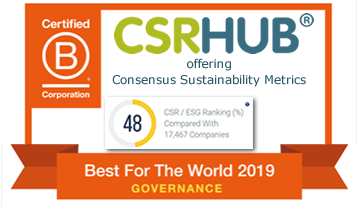 CSRHub is B Corps Best For The World 2019 Governance Honoree